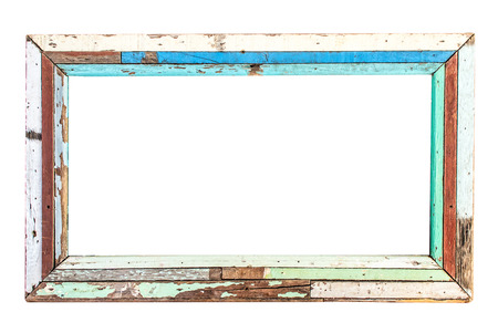 old wooden frame isolated Stock Photo