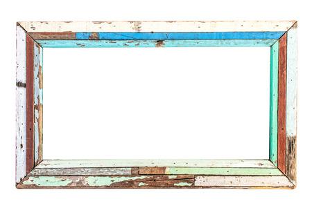 old wooden frame isolated Reklamní fotografie