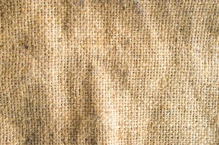 Die braunen Sackleinen Textur Hintergrund