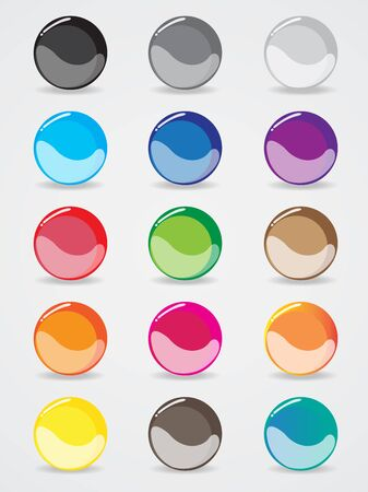 buttons design for the website template Vector