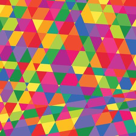 humilde: patrón geométrico triángulos Fondo de diseño poligonal estilo colorido lowpoly