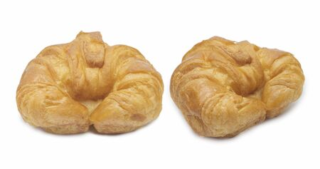 fresh croissant on white background