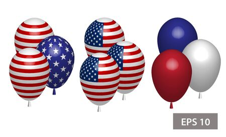 4 july Independence day balloons you can move it yourself Illustration