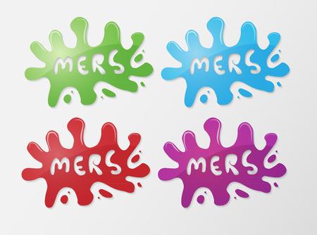 coronavirus: Mers Corona Virus concept splash symbol