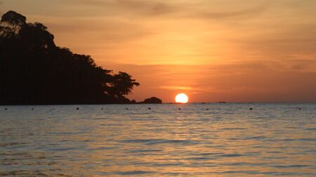 chang: Sunset on the beach. Koh Chang,Thailand