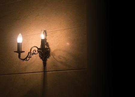 metal Wall light  on the wall