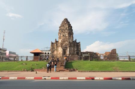 Phra Prang Sam Yod, Religi�se alten Khmer-Kunst, Lopburi, Thailand
