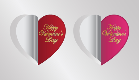 red and pink heart folding greeting valentine s day card royalty