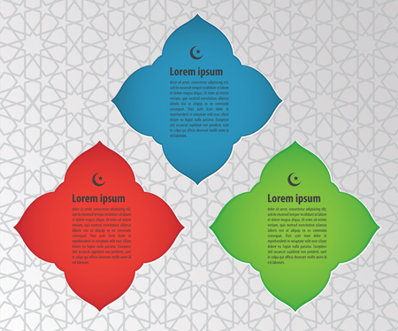 Muslim abstract greeting card on islamic pattern background Vectores