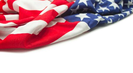 old glory: American flag border isolated on white background