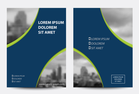 magazine template: brochure, magazine cover & poster template.