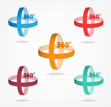 angle: Angle 360 degrees sign icon, Geometry math symbol