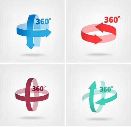 Angle 360 degrees sign icon, Geometry math symbol