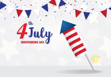 Independence Day 4. Juli Kracher auf star Hintergrund