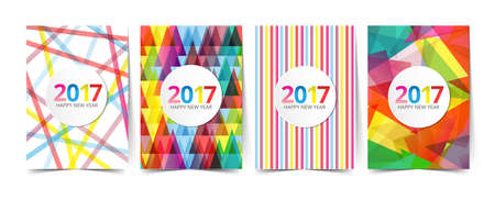newyear card: pattern template for design 2017 greeting newyear card