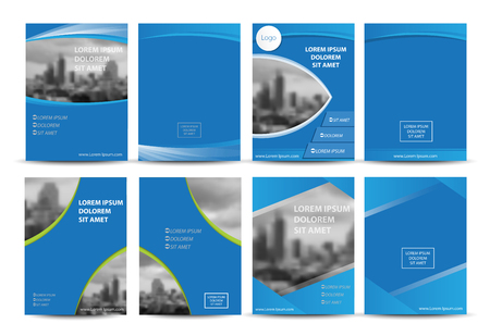 magazine template: Vector brochure, flyer, magazine cover & poster template. Illustration