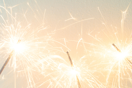 sparkler on the white background,holiday celebration background