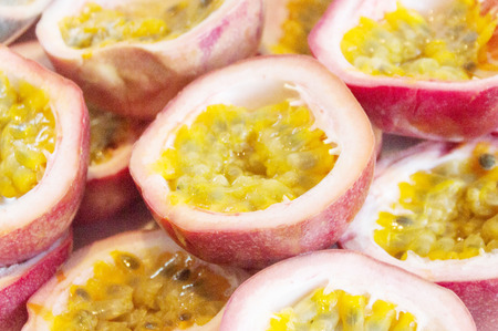 the tropical Passion fruits stack background