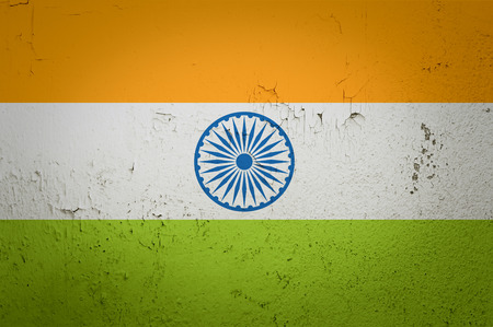 Old grunge flag of India background