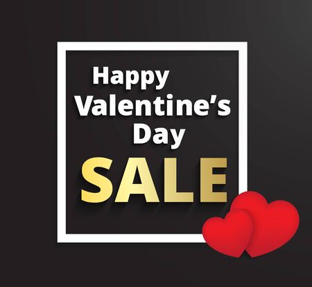 Valentine`s day promotion sale design concept Illustration