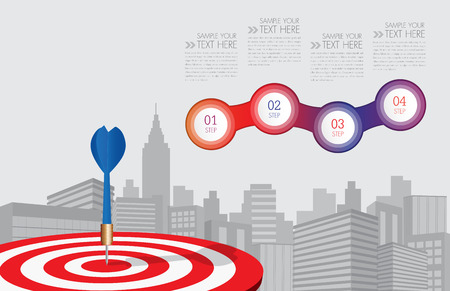 Vector dart aiming at the business target,business concept,ilustration