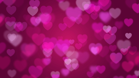 illustration of Valentines day pink background with hearts  Stock Photo