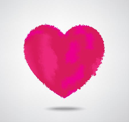 Coeur style aquarelle sur fond gris Vecteurs
