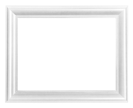 white: Picture frame white wood frame isolated Stock Photo