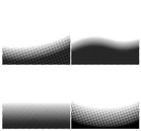 Eine Reihe von Grenz schwarzen und weißen Halbton-Hintergrund mit Kopie Raum