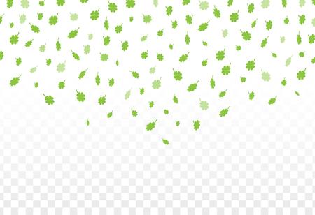 Illustration eines St Patrick Tages grünen Klee Blätter Hintergrund.