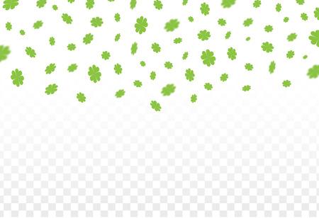 Vektor-Illustration eines St Patrick Tag grünen Klee Blätter fallen Hintergrund