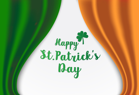 Vektor-Illustration eines St Patrick Tag grünen Klee verlassen Symbol auf Irland-Flagge