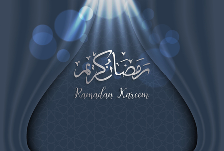 ramadan backgrounds vector,Arabic Islamic calligraphy of Ramadan kareem on  curtian  background. Illustration