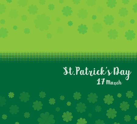 Vector Illustration of a St. Patricks Day green clover leaves background