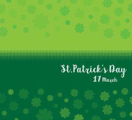 Vektor-Illustration eines St Patrick Tag grünen Klee Blätter Hintergrund