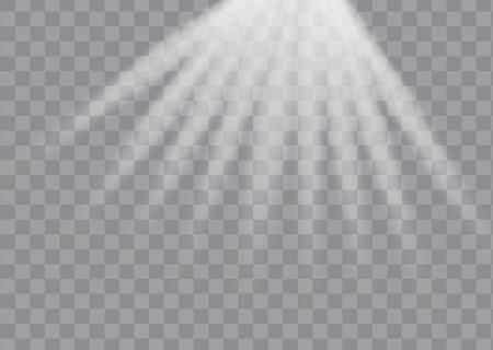 White glowing light burst explosion with transparent. Vector illustration EPS10 Illustration