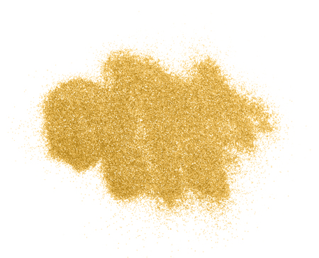Luxury gold glitter sparkles isolated on white background