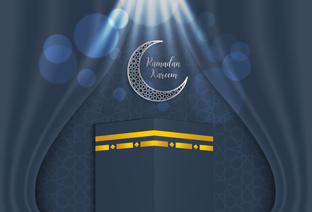 ramadan backgrounds vector,Ramadan kareem with kaaba and arabic pattern background