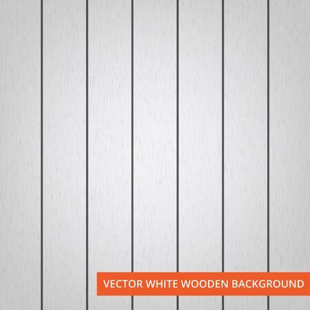 Vektor weiße hölzerne Planken als Beschaffenheit und Hintergrund mit Kopienraum für Text. Illustration
