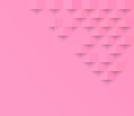 Rosafarbener geometrischer Beschaffenheitshintergrund des Pastells Abstrakte quadratische geometrische Beschaffenheit. Illustration