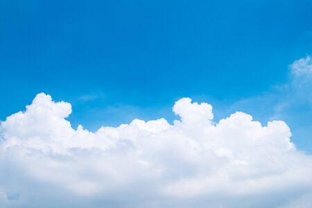 The beautiful blue sky with clouds background