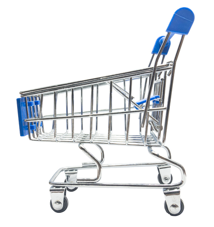 Shopping cart, isolated on white Stock Photo