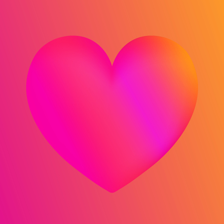 Pink heart colorful neon figures,Valentines day greeting Banner with copyspace. Ilustrace