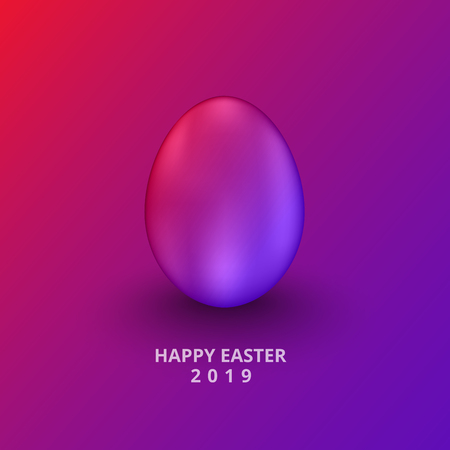 vector illustration happy easter day 2019 banner,Easter neon eggs background Design element.
