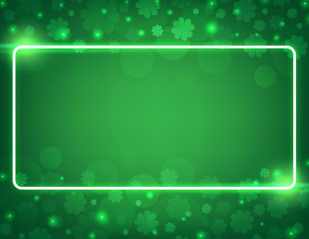 Vector Illustration of a St. Patricks Day green  clover leaves  background Ilustrace