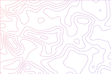 curved lines, fluid shapes illusion of movement, dynamical surface. Bright colors, blue and pink gradient on black background Ilustrace