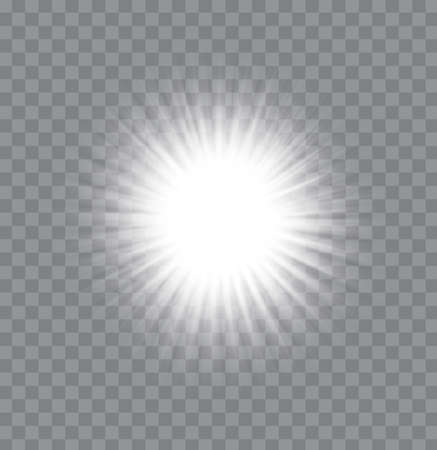 White glowing light burst explosion vector on the transparency background,illustration EPS10.