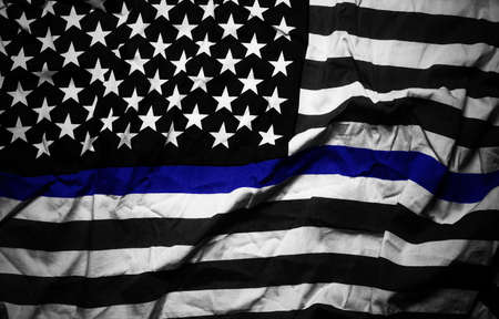An American flag symbolic of support for law enforcement,usa flag.