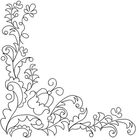 leafy: Creative card with leafy frame. Illustration