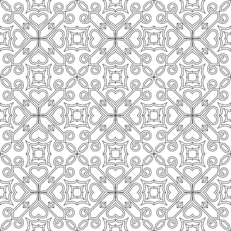 black and white seamless pattern background for coloring pages